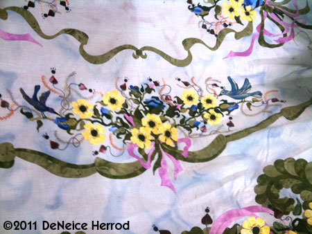 DeNeice's teaser photo of Sharon's quilt
