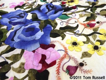 Sharon Schamber: Blue Rose Cluster