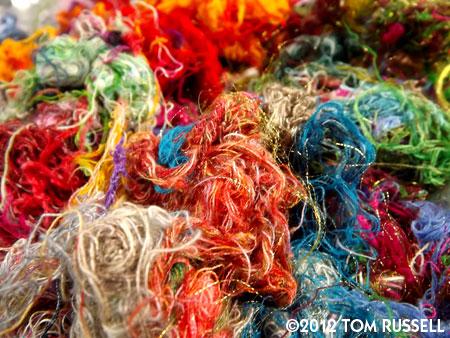 Magic Camera Monday: Ravelings From Washing Fabric